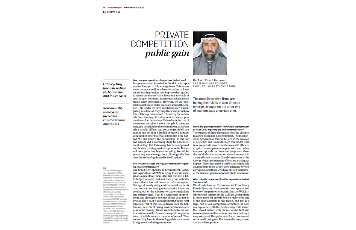 Interview in The Business Year 2018